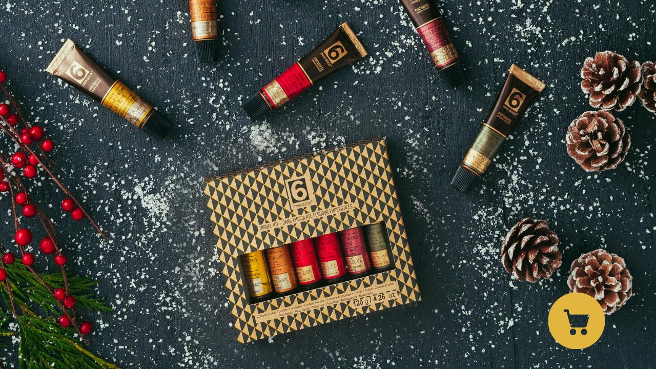 Travel kit 6 Cremes de Chocolate Negro São Tomé - Os melhores do mundo