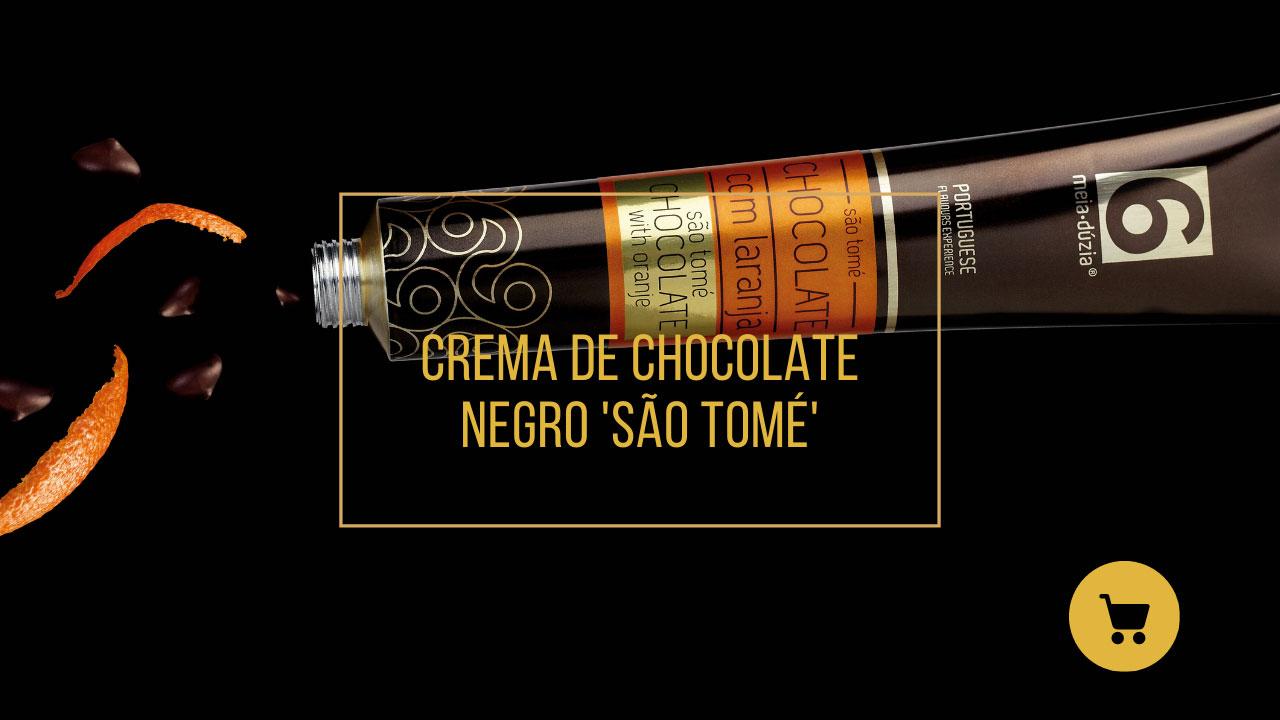 Creme de Chocolate Negro São Tomé Com Laranja